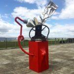 """""""Art Machine"""" Aluminium & Steel $4800 Aldo Bilotta"""